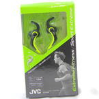 NEW JVC HA-ETX30-B Sport Gym Pivot Motion Earphones Black Green In-Ear Headphones HAETX30B