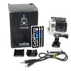 GoPro Hero 3 CHDHN-301 Camcorder Silver Edition Camera With Accessories