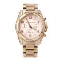 Ladies Michael Kors Blair MK-5263 Rose Tone Stainless Steel Chronograph Watch