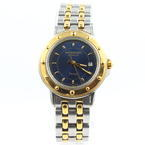 Ladies Raymond Weil Tango Two Tone Model 5360 Watch Roman Numeral Dark Blue Dial