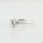 Brilliant Platinum Solitaire Wedding Engagement 0.81 Carats Diamond Say Yes Ring