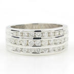 Classic Ladies 14K White Gold Brilliant Diamond 0.60CTW Wedding Anniversary Ring Band