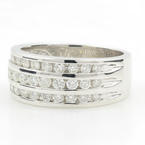 Classic Ladies 14K White Gold Brilliant Diamond 0.60CTW Wedding Anniversary Ring Band