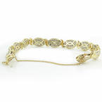 Classic Ladies Vintage Estate 10K Yellow Gold Diamond 4.84CTW 7 Inch Bracelet