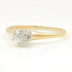 Estate Classic 14K Yellow Gold Diamond Solitaire 0.20CTW Engagement Ring
