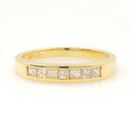 Classic 14K Yellow Gold Natural Chanel Set Diamond 0.25CTW Wedding Ring Band