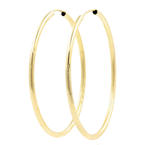 Estate Classic Ladies 14K Yellow Gold Hollow Hoop 47MM Earrings
