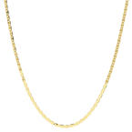 """Estate 14K Yellow Gold High Polished Mariner Lobster Claw Clasp 18"""" Chain"""