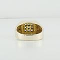 Mens Jewelry White Diamond 14K Yellow Gold Anniversary Gift He Will Love Ring