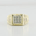 Mens Jewelry White Diamond 14K Yellow Gold Anniversary Gift He Will Love Ring
