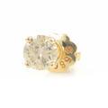 Classic 14K Yellow Gold Natural Diamond Single 0.20CTW Screw Back Stud Earring