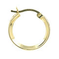Classic Estate 10K Yellow Gold Cubic Zirconia Hoop 17MM Saddle Back Earrings