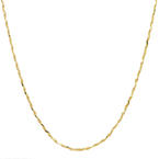 """Modern Estate 14K Yellow Gold Twisted Fancy Chain 24"""" Necklace"""