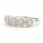 Modern Estate 14K White Gold Diamond 1.30CTW Anniversary Right Hand Ring