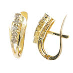 Classic Ladies 14K Yellow Gold Diamond 0.30CTW Huggie Latch Back Earrings