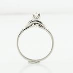 Brilliant Ladies 14K White Gold 0.20 Carat Diamond Solitaire Engagement Ring