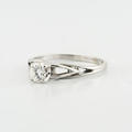 Brilliant Ladies 14K White Gold 0.20 Carat Diamond Solitaire Engagement Ring