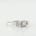 Brilliant Three Diamond 0.55CT Past Future & Present Engagement White Gold Ring