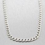 "Estate Men's 925 Silver 30"" Cuban Link Lobster Claw Clasp Chain"