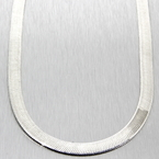 "New 925 Sterling Silver 18"" Flat Snake Chain Necklace - Made In Italy"