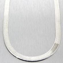 """New 925 Sterling Silver 18"""" Flat Snake Chain Necklace - Made In Italy"""