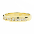 Lenoor Ladies 14K Yellow Gold Chanel Set Diamond 0.36CTW Ring Band