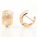 Classic Estate Ladies 10K Rose Gold Huggie Hoop Earrings