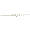 """Ladies Estate 14K White Gold Heart Rice Pearl Pendant & 20"""" Link Chain Necklace"""