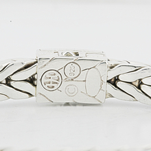 John Hardy 925 Sterling Silver Classic Diamond Square Woven Men's 7.5in Bracelet