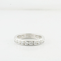 Tiffany & Co Eternity Platinum Wedding Band Ring 1.89CTW Diamond 3.7mm Size 6.75