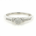 Vintage Classic Estate 10K White Gold Ladies Diamond Rosita Ring - 0.40CTW