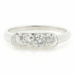 Vintage Estate 14K White Gold Diamond 0.60CTW Anniversary Ring Band