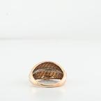 Modern Design Rose Gold & Diamond Leaf Ladies Filigree Size 6 Jewelry Ring