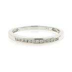 Vintage Estate 10K White Gold Diamond Anniversary Wedding Ring Band - 0.18CTW