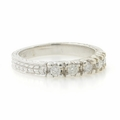 Beautiful Vintage Estate Ladies 14K White Gold Diamond Ornate Ring Band 0.25CTW