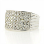 Classic Ladies 14K White Gold Brilliant Diamond 1.20CTW Right Hand Ring Band