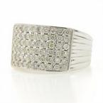 Classic Ladies 14K White Gold Brilliant Diamond 1.20CTW Right Hand Ring Band