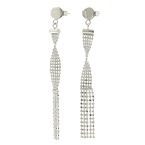 Vintage Estate Ladies 18K White Gold Chandelier Bead Push Back Earrings