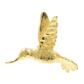 Vintage Classic Estate 14K Yellow Gold Humming Bird Shaped Animal Pendant 20MM