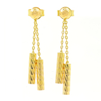 Estate Vintage Ladies 18K Yellow Gold Drop Push Back Earrings