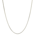 Classic Estate 14K White Gold Lobster Claw Clasp Box Necklace 24 Inch Chain