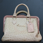 Louis Vuitton Limited Edition Poudre (Pink) Ostrich Frame Speedy Bag Very Rare