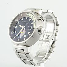 Louis Vuitton Tambour Diving Ref. Q1031 Stainless Steel Watch With Travel Case