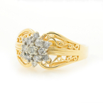 Vintage Estate Ladies 14K Yellow Gold Diamond Ornate Exquisite Ring 0.40CTW