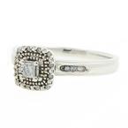 Ladies Classic Estate 14K White Gold Princess Cut Diamond 0.30CTW Fancy Engagement Ring