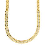 Gorgeous Vintage Estate 14K Yellow Gold Diamond Chain Necklace - 5.80CTW - 16""