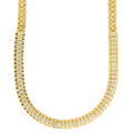 "Stunning Vintage Estate 14K Yellow Gold Diamond 5.80CTW 16"" Chain Necklace"