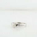 Stunning 14K White Gold Half Carat Center Solitaire Diamond Engagement Ring
