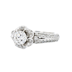 Gorgeous Flower-Shaped 14K White Gold Women's Diamond Ring - 1.49CTW - Brand New