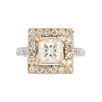 Gorgeous 14K White & Rose Gold Women's Diamond Ring 2.73 CTW - Brand New